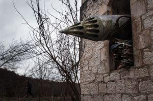 The Orthodox Church destroyed during the war. Anukhvavillage, Abkhazia. © Olga Ingurazova