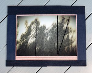 Eclipse Screen 1. Crescent Suns, mounted, 17 x 22 in.