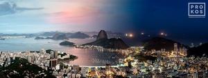 Night & Day - Botafogo Cityscape, Rio de Janeiro