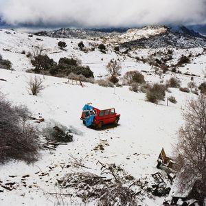 Landscape with a red car, Sierra de Cazorla, Spain, 2013 © Antoine Bruy