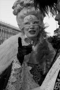 Woman with Diamond Mask II