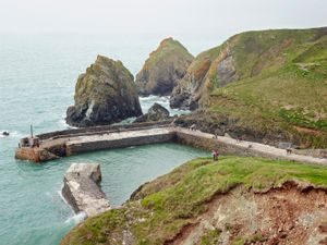Mullion Cove, Lizard Peninsula, Cornwall, 2014. Courtesy Flowers Gallery.