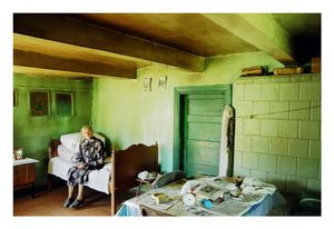 Having buried her husband many years ago, living alone in an old remote house, Stase Pelduniene is a very kind person, taking care of everyone she can. Relatives tell that once she gave a pregnant pig to the people taking care of her, and the nursers did not show up until the small pigs were spent, August 2002 © Mindaugus Kavaliauskas