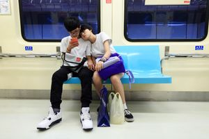Young love on the MRT