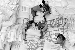 "Unloading Donations of Rice"" Tamatave, 1995"