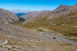 Approach to the summit of the  Col Agnel (Colle dell'Agnello) on the French-Italian border