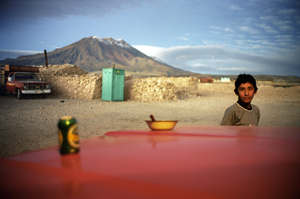 "Volcan San Pedro y San Pablo. From the book, ""Ritos y Memoria."" Chile, 2005. © Claudio Pérez. Courtesy Galerie NegPos"