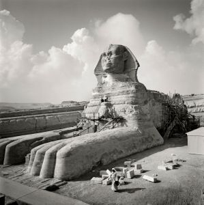 Renovation of The Sphinx by Dr Mahmoud Mabrouk, 10 November 1997. Courtesy of the artist and Torch Gallery, Amsterdam.