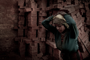 Nepali Woman Carrying Bricks