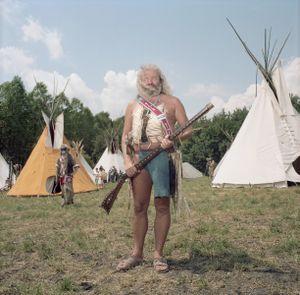 Indian Wearing Birkenstocks, Brezno, Czech Republic, 2014