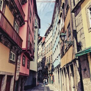 The beginnig of Ribeira narrow street