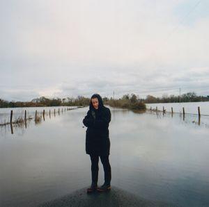 America Pregnant on Sanford Road Flooded by the Laguna de Santa Rosa, Sebastopol, California 2014