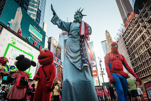For the last five years, Spiderman, Elmo, Minnie Mouse, Ironman and Lady Liberty- these American symbols of the American dream, appeared on Times Square on a daily basis.