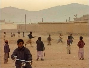 Kabul, Afghanistan (2001). Children, in liberated Kabul.