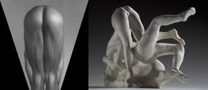 (left) George Bradshaw, 1980 © Robert Mapplethorpe Foundation. Used by permission. (right) Femmes damnees, avant 1890 © Paris, musee Rodin