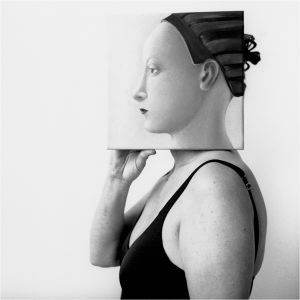 La Donna è mobile, from Transfigurations: A Collaboration, © photographer Richard Bram and painter Silvia Willkens, 2007