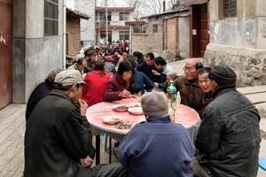 Huge street meal