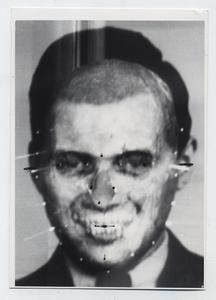 Richard Helmer. Richard Helmer's face/skull Mengele superimposition 1985 © Photo Richard Helmer. Courtesy Maja Helmer, 1985