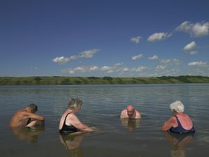 * Lake Manitou, Canada's Only Salt Lake/Watrous, Saskatchewan/July 2011
