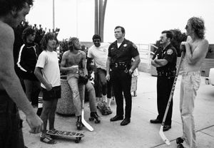 Skaters & cops; Hermosa