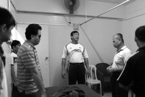 © Nafise Motlaq -Lee talks to some of his senior masseurs about Sport Massage.