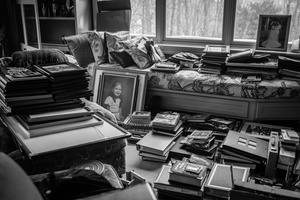 The house is packed up. Thousands of photographs are uncovered, reflecting a lifetime of memories. New York, US, 08 February 2015.