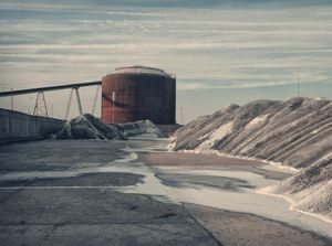 Salt & Silos © Barry Cawston