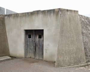 Door to Crematorium from Execution Trench, Sachsenhausen Memorial and Museum