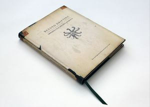 """""""Beyond Drifting: Imperfectly Known Animals"""" — book. The basis of the project is presented as an old science book from the 1800s. It represents both the current situation concerning marine organism's intake of plastic particles, beads and fibres, alongside early discoveries when plankton were free from plastic"""