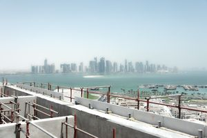 West Bay skyline on reclaimed land, Doha