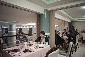 The restaurant of the Kabul Star, an hotel in the chic area | Kabul, Afghanistan 2012 © Sandra Calligaro
