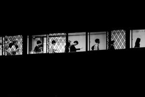 Commuters on their way home, Harajuku, Tokyo