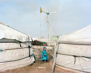 A child outside Monglian yurt,2013