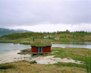 Red Cabin, Lofoten Islands, Norway.