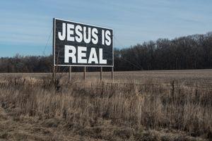 Jesus is Real Billboard, Near I-65 Mile Marker 243, Hebron, Indiana, 2015
