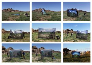 Dual Landscape, Installation Processing, Gobi Desert in Mongolia, 2012