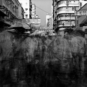 "Frenetic City. This photograph is part of an on-going series titled ""Frenetic City,"" which documents the chaotic pace of life in Hong Kong. This was made using between 10 to 25 multiple exposures on B&W negative film. © HanShun Zhou, runner up and winner in the Creative Photography category"