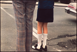 Girl and Man at Road, 1975