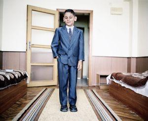 Varna, Bulgaria 2006. Jelez Kolev, 10 years old, at the school for the blind.