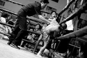A boxing match between boys. © Sandra Hoyn