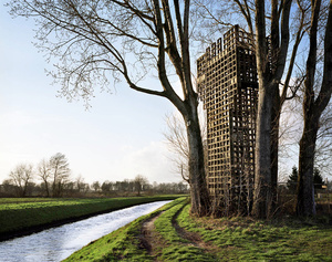 The Netherlands, Schoonebeek. Watchtower on the border with Germany for observing low-flying Russian aircraft.