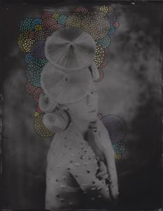 © Zelko Nedic, Madam V                 8x10 Tintype, Hand Coloured