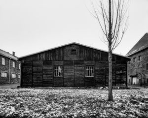 The laundry building for the members of the SS - KL Auschwitz I