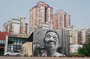The Wrinkles of the City, Action in Shanghai, Shi Li, Chine, 2010 © JR, Magda Danysz