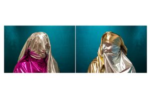 """Metallic Diptych, from the Series """"Cast No Evil"""""""