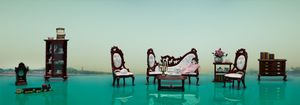 """@Aixia Li-""""Parlor"""", 200 x 50cm, digital print with dibond, 2010"""