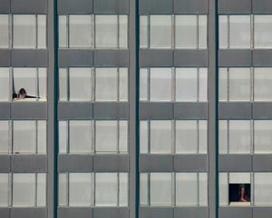 """From the series """"The Transparent City,"""" where architectural abstraction meets high-tech voyeurism in a study of downtown Chicago."""