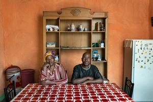 Zama Gangi with his wife Matshozi - Kwagorha, South Africa 2015