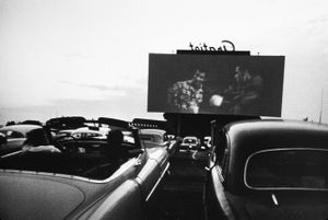 Drive-in movie, Detroit 1955. From The Americans © Robert Frank