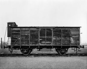 Freight and cattle truck - KL Auschwitz II Birkenau